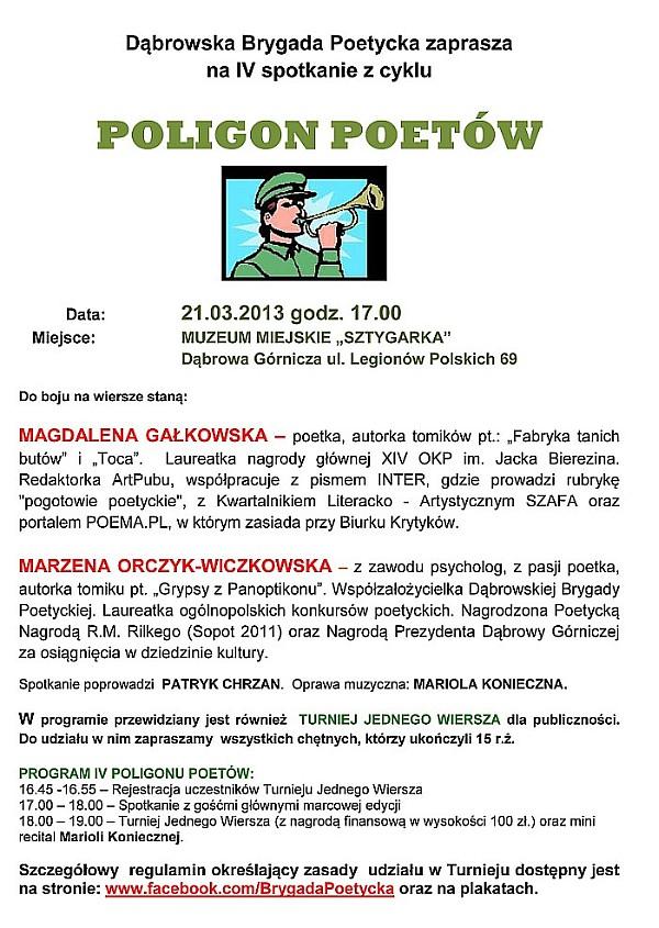 4 poligon poetow plakat