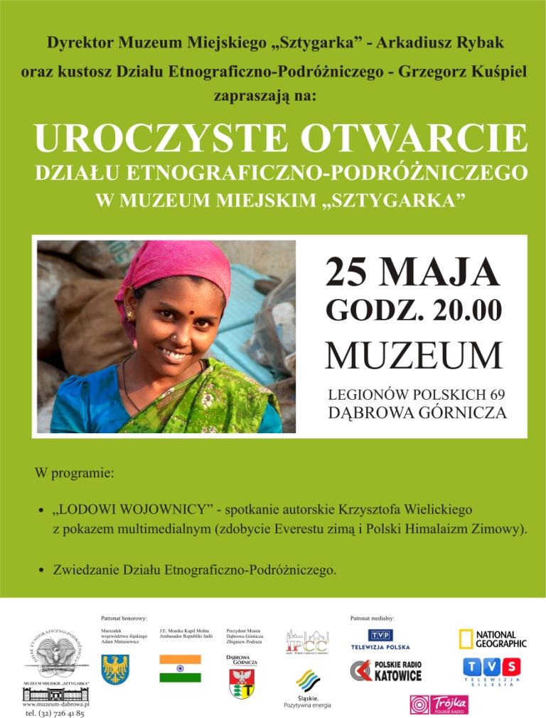 plakat-otwarcie działu dla zwiedzających