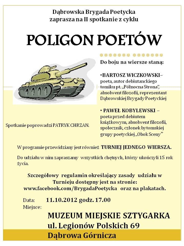 Poligon Poetów 11.10.2012- plakat