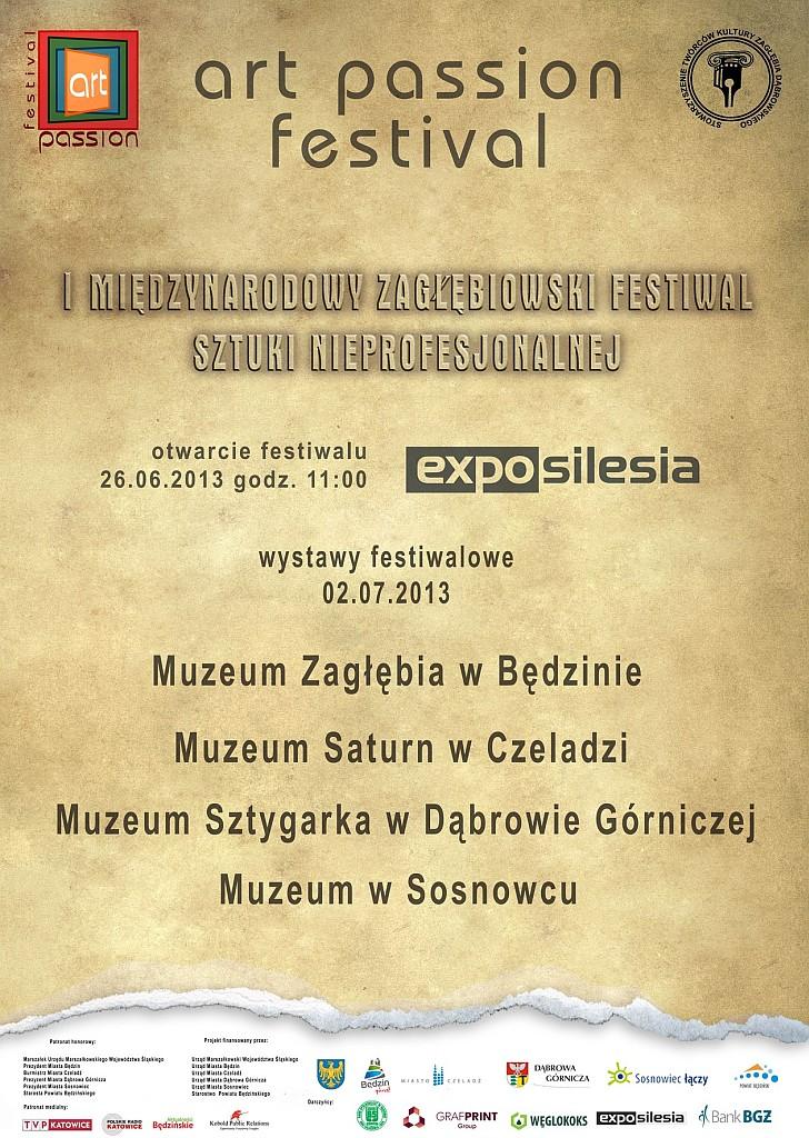 plakat festiwal sztuki nieprof.