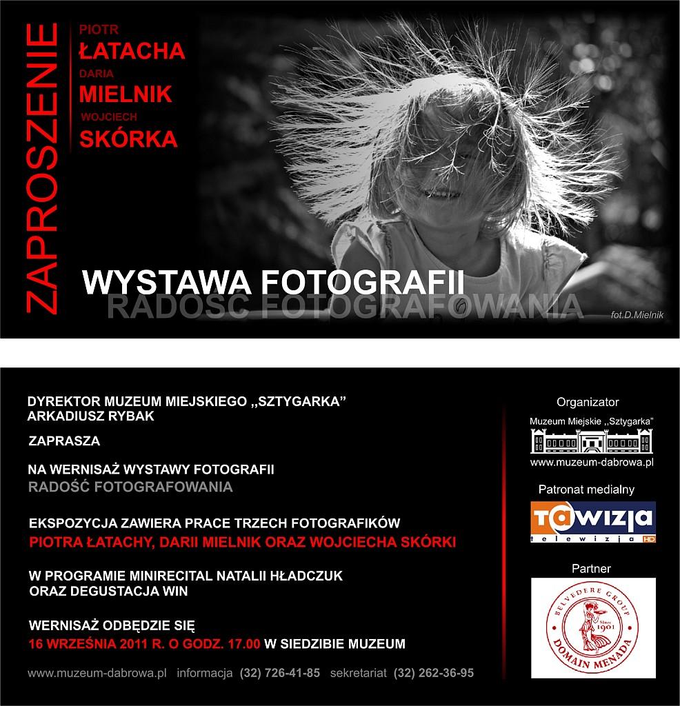 zaproszenie wystawa foto