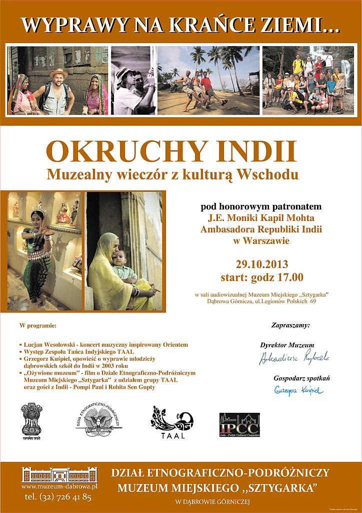 OKRUCHY INDII PLAKAT wydruk
