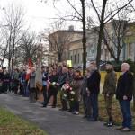uroczyste obchody swieta niepodleglosci -_spotkanie poddebem wolnosci przy ul.legionow_