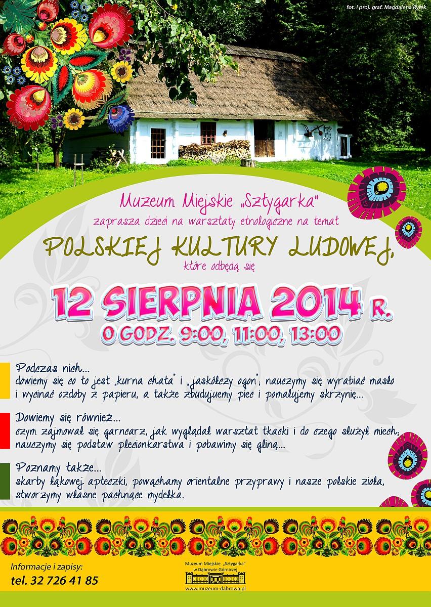plakat polska kultura ludowa - warsztaty